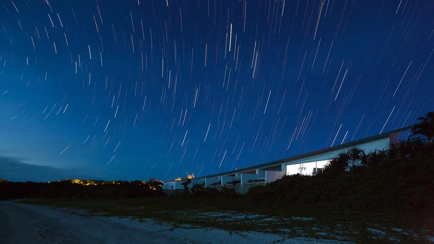 【夜空】すっかり日が落ちたら満天の星空を鑑賞できます