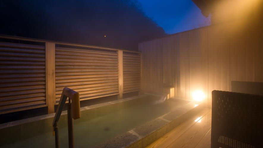 貸切露天風呂「なごみ湯」 横幅約3メートルの露天風呂で自家源泉の美合温泉をお愉しみいただけます