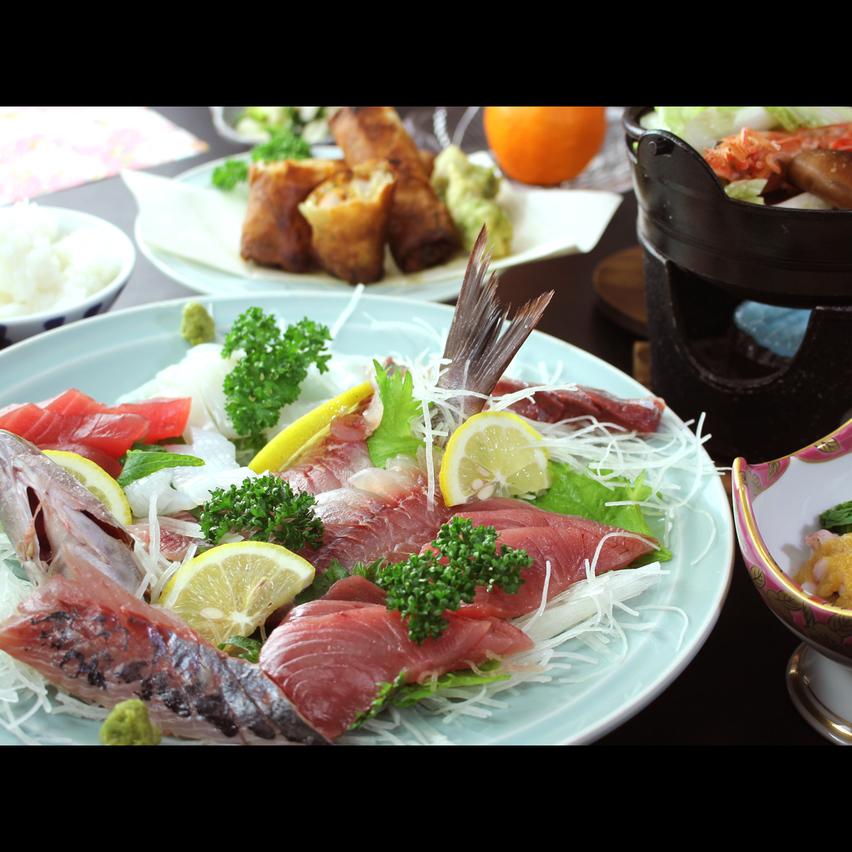 海の近くに泊まるならこれで決まり!新鮮な旬魚で振る舞う 大皿盛りコース