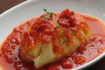 ご夕食(トマトソースのロールキャベツ)