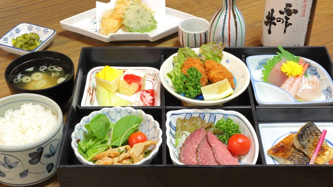 【2食付】新発田市産の美味しいコシヒカリと地場産食材!深層湯温泉でリラックス♪