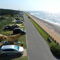 *[紫雲寺記念公園/オートキャンプ場]目の前は海!日本海に向かっていてとても開放的