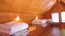 *【客室一例】湖畔バンガロー(2階寝室)