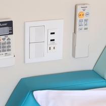 客室設備・備品・アメニティ(全室完備 枕元コンセント&USBコンセント)