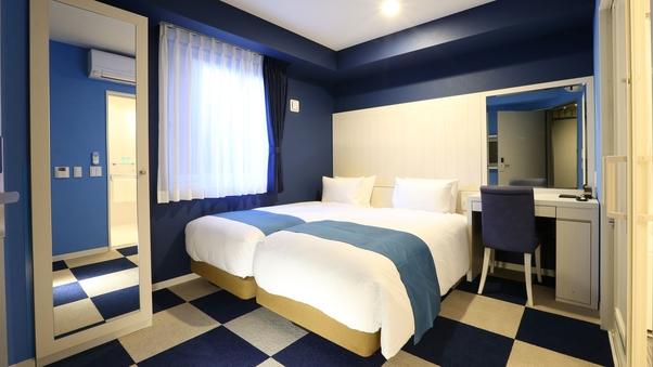 【全室禁煙】2階ユニバーサル/90cm幅ベッド2台