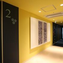 2階エレベーターホール「勿忘草」