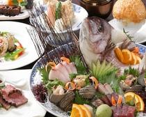個室でお食事プレミアムプラン お料理イメージ