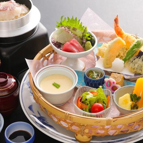 控えめ夕食「鯛釜飯」御膳イメージ(2019年4月~)