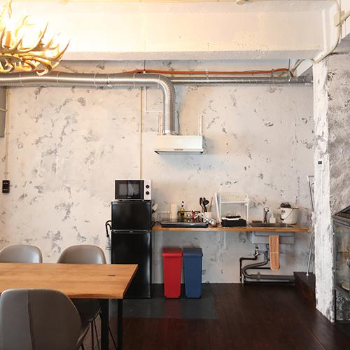 「アッシュトーン」キッチンスペース