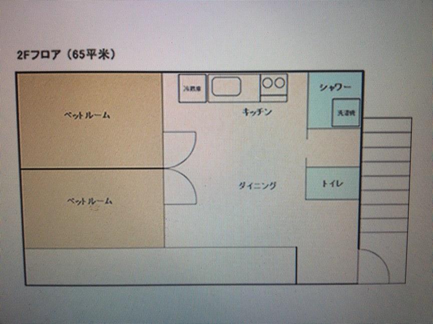 セカンドフロアルーム(二階)お部屋見取り図