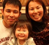 仲良し家族の笑顔♪
