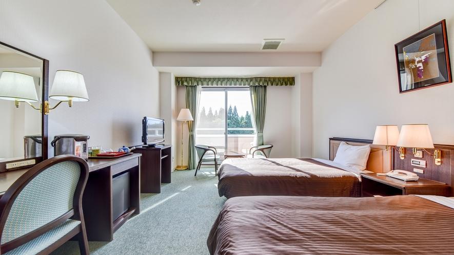 *【洋室 ユニットバス付】ベッドをご希望の方はこちらのお部屋を♪<加湿機能付き空気清浄器完備>