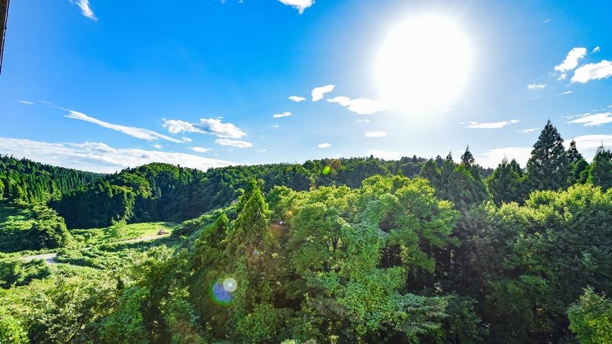 *【お部屋からの眺望】のんびり流れる八尾の風景