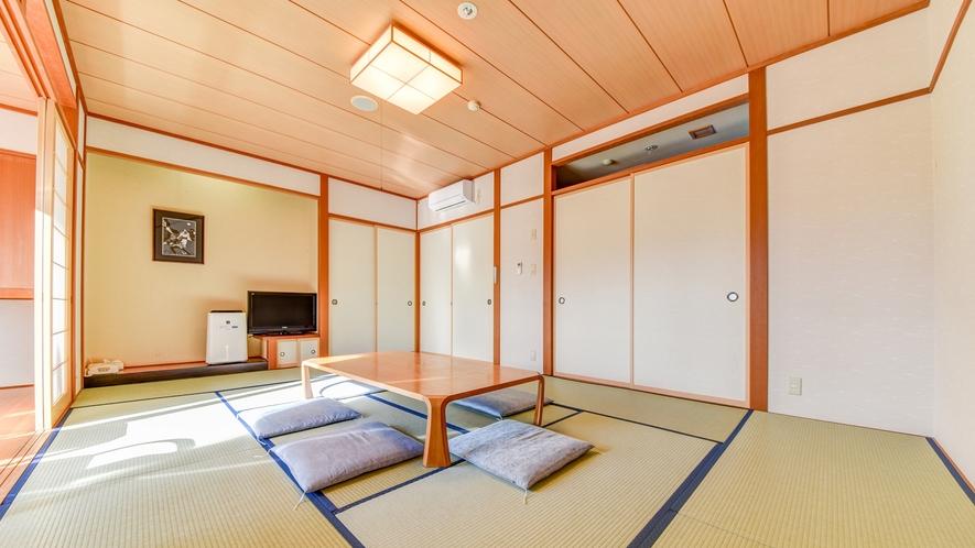 *【和室12畳】畳のお部屋でのんびりおくつろぎ。<加湿機能付き空気清浄器完備>
