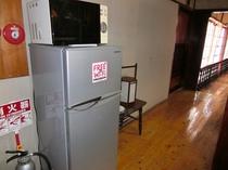 共用の電子レンジ・冷蔵庫がございます