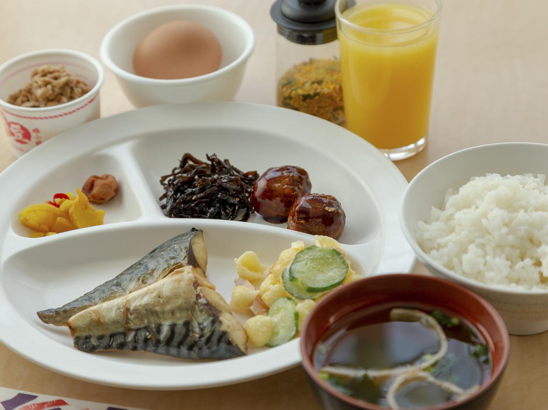 盛り付けの一例 和風朝食