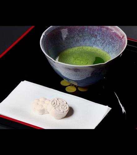 ほっとひといき-お抹茶とそばの和菓子-ウェルカムドリンク