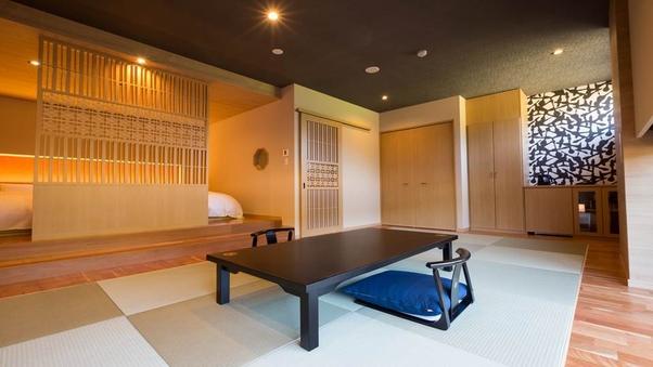 和モダン洋室|ツインベッド+和室