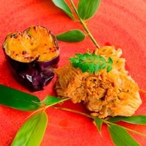 自然の恵み溢れる地元・熊本の素材をメインに使用した「体が喜ぶ料理」 ※料理一例