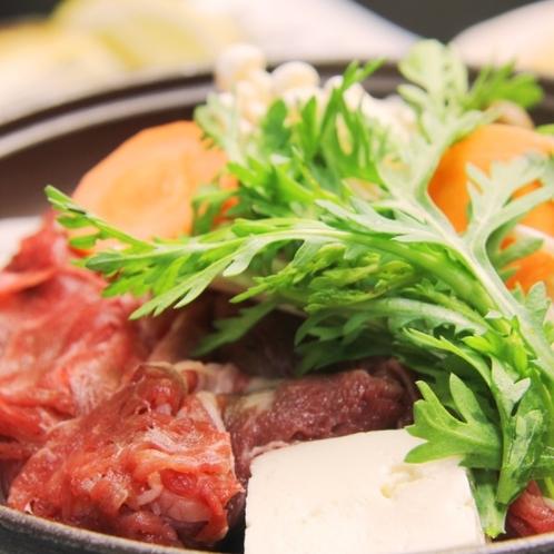 夕食_国産牛の陶板焼き