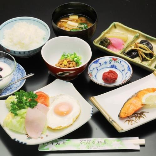 朝食全体。身体にやさしい 和朝食です