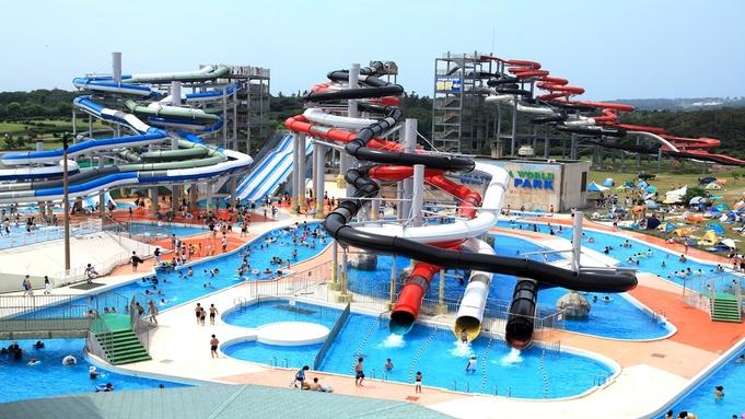 【夏休み】ディナーブッフェ!スライダー&プール「芝政ワールド」スーパーパスポート付♪