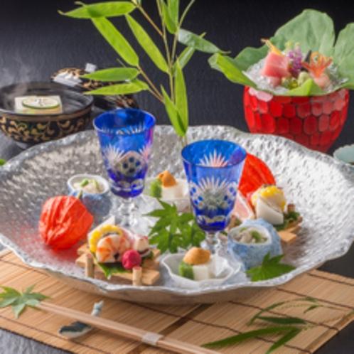 【食事】料亭「遊膳」春夏の創作懐石<イメージ>