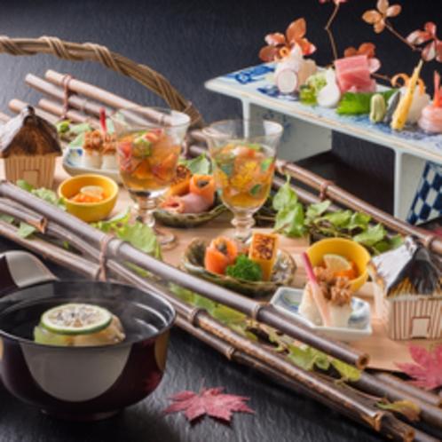【食事】料亭「遊膳」秋冬の創作懐石<イメージ>