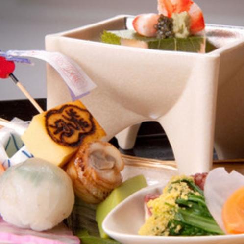 【食事】別邸「個止吹気亭」本格懐石(前菜)<イメージ>