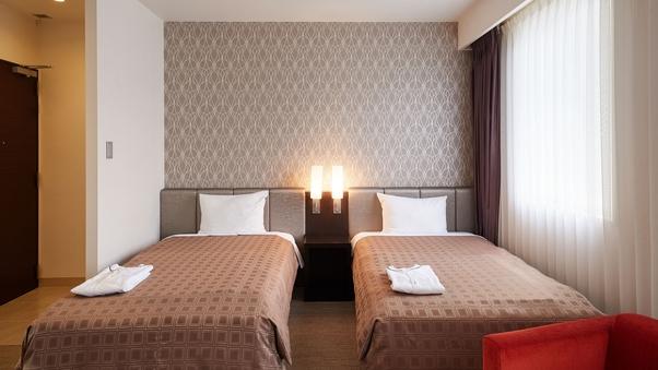 【喫煙可】ツインルーム(22平米)ベッド幅110cm