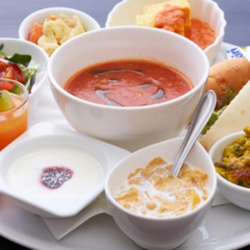 【朝食】ホテルユクエスタのプレート朝食