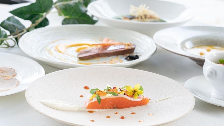 【ご夕食/フレンチコース】季節の素材・信州の素材を存分に使用しております。