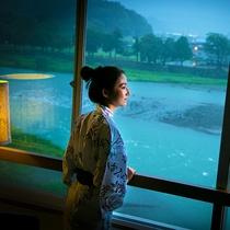 全室球磨川沿いで他では味わえない眺めが楽しめます。絶好のロケーションをお楽しみ下さい。