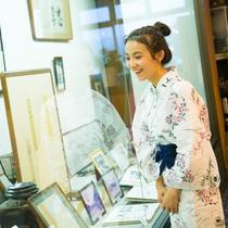 【展示コーナー】創業・江戸時代からの鍋屋の歴史をご紹介しております。