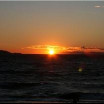 駿河湾の夕陽1