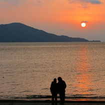 駿河湾の夕陽5