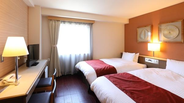 【禁煙】ツインルーム(120cm幅ベッド2台)