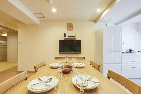 グループに快適な広い客室60㎡プラン。寝室は2部屋あり♪大型浴室、キッチン、洗濯機付