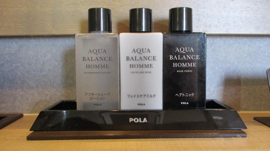【男性大浴場】POLAのスキンケアセット(シェーブローション・フェイスミルク・ヘアトニック)