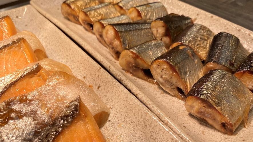 【焼き魚】鮭と秋刀魚※秋季限定メニュー