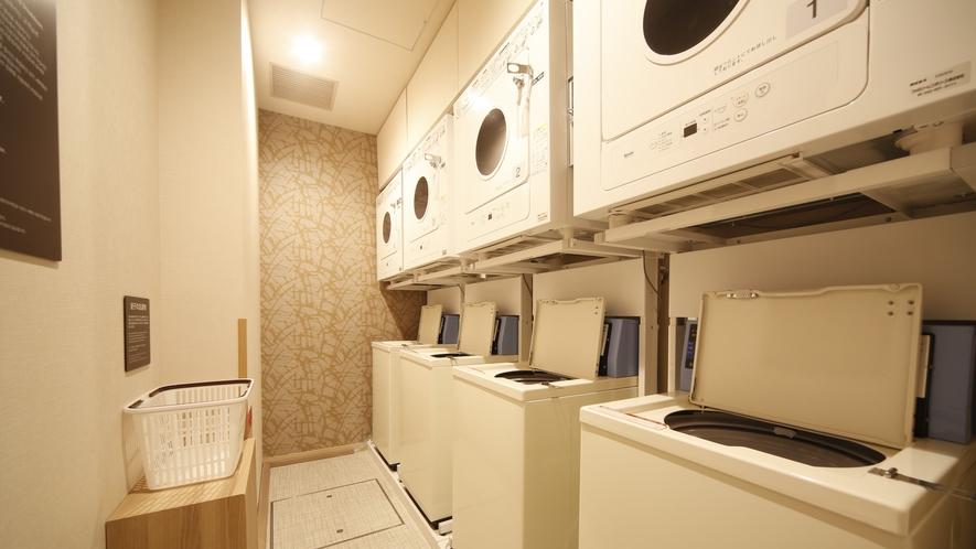 【女性大浴場】ランドリーコーナー(4台設置)