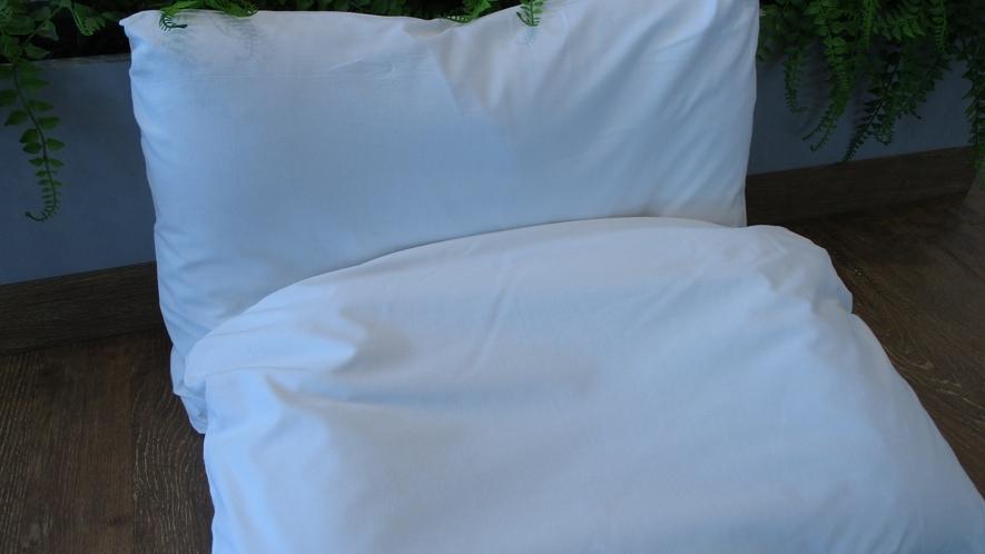 【貸出】各種枕(羽枕・低反発枕)