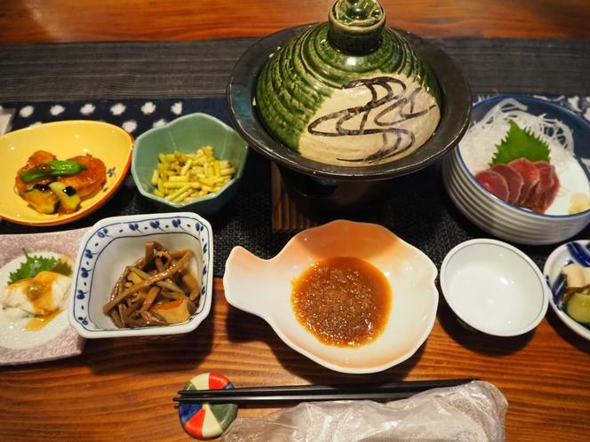 タジン鍋の夕食