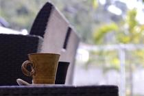 朝のワンちゃんお散歩とモーニングコーヒー