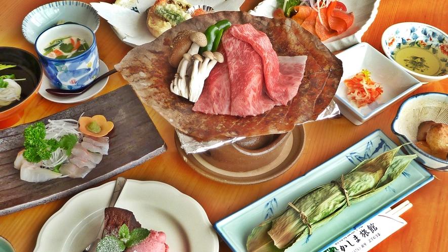 *【夕食一例】地元の食材を使った手作り郷土料理