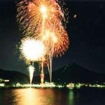 【富士山・河口湖山開きまつり花火大会】例年7月第一土曜日に開催