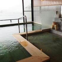 最上階展望風呂-女性の内湯(河口湖温泉)です