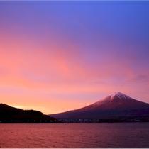 【富士山ギャラリー】朝焼けの富士山