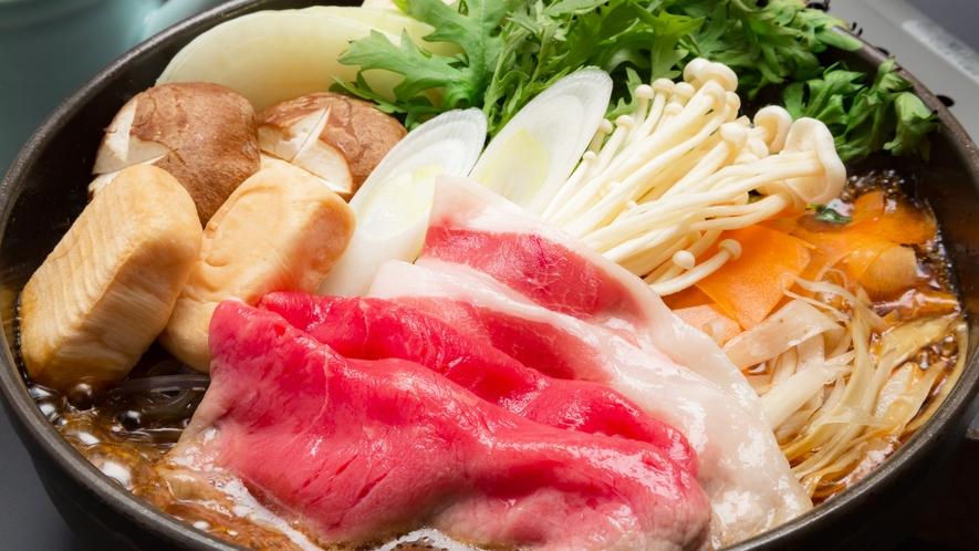 牛&那須三元豚のすき焼きイメージ