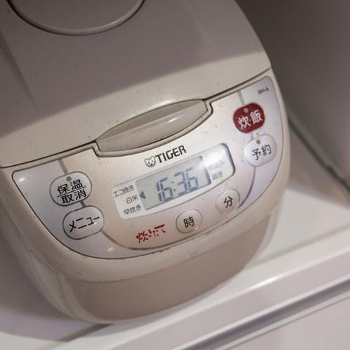 キッチンの炊飯器
